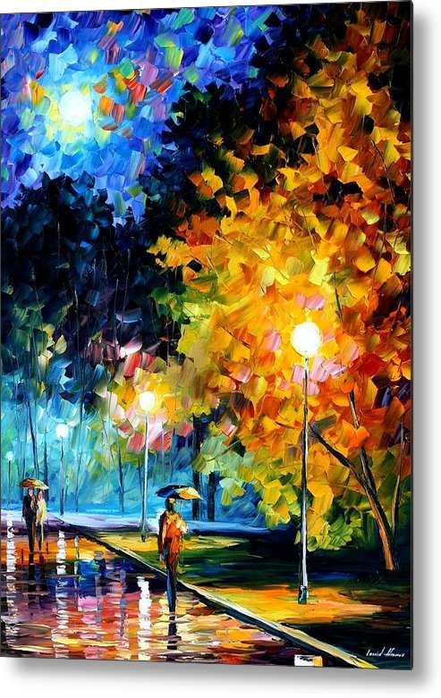 Afremov Metal Print featuring the painting Blue Moon by Leonid Afremov