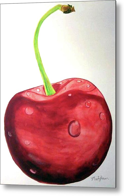 Cherry Metal Print featuring the painting Cherry by Misty Hover