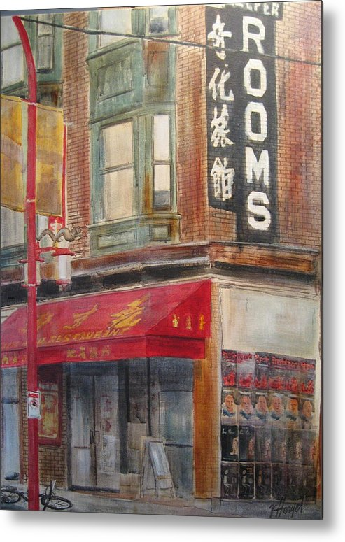 Rooming House Metal Print featuring the painting Chinatown 1 by Victoria Heryet