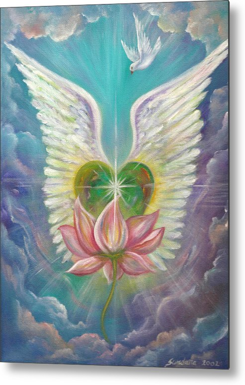 Heart Metal Print featuring the painting Emerging Love Opening Heart by Sundara Fawn