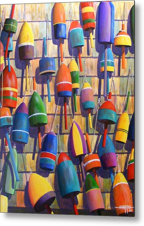 Abstract Metal Print featuring the painting Float Wall by Hugh Harris