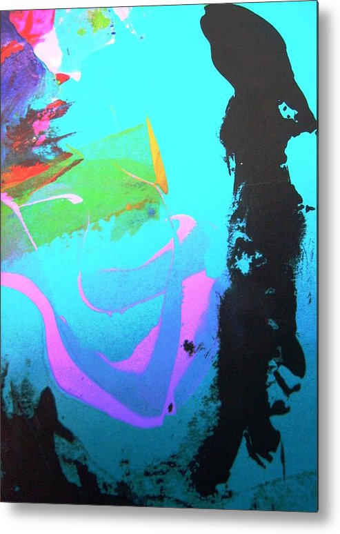 Water Metal Print featuring the painting Hard To Be Sure Around Water by Bruce Combs - REACH BEYOND