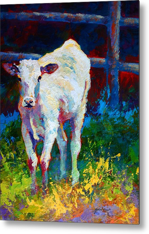 Western Metal Print featuring the painting Like My Daddy by Marion Rose