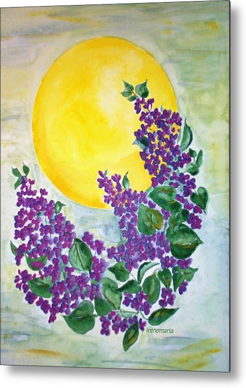Lilacs In June Metal Print featuring the painting Lilacs In The Midnight Sun by Irenemaria
