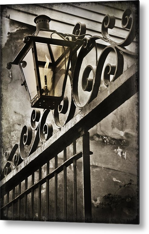 Louisiana Metal Print featuring the photograph New Orleans Gaslight by Beth Riser