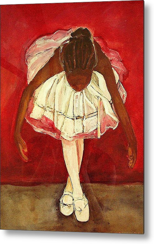 Ballerina Metal Print featuring the painting Port De Bras Forward by Amira Najah Whitfield