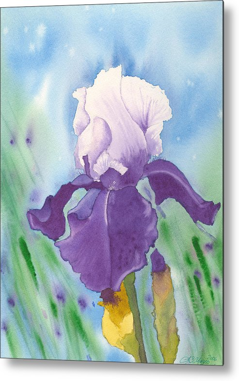 Iris Metal Print featuring the painting Purple by Louise Magno
