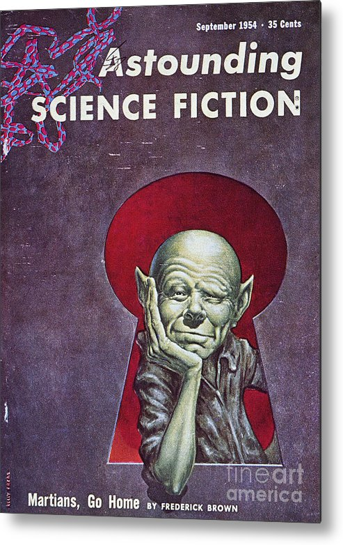1954 Metal Print featuring the photograph Science Fiction Cover, 1954 by Granger