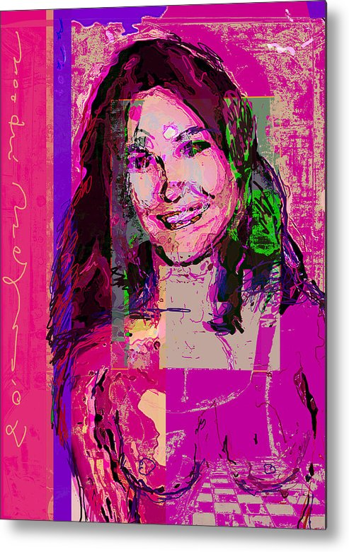 Portrait Metal Print featuring the painting Sweet Nat by Noredin Morgan