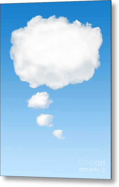 Background Metal Print featuring the photograph Thinking Cloud by Carlos Caetano