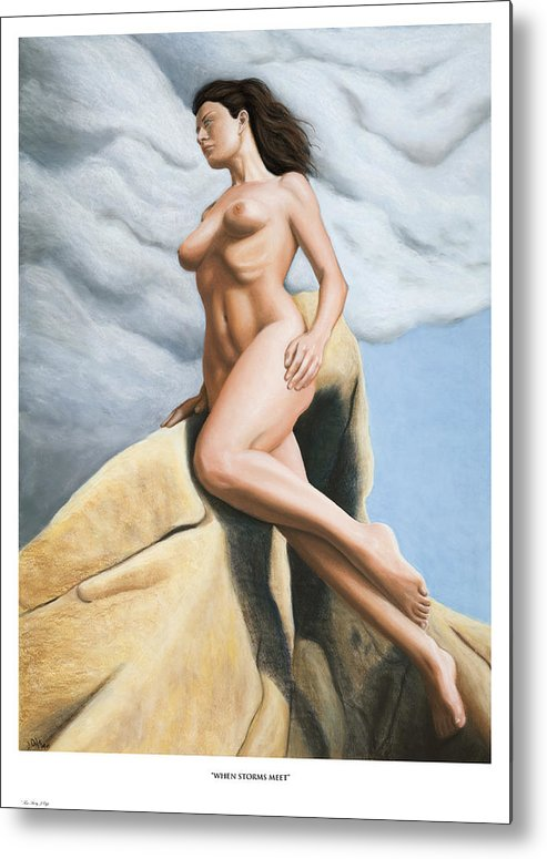 Joe Ogle Metal Print featuring the painting When Storms Meet Prints Only by Joseph Ogle