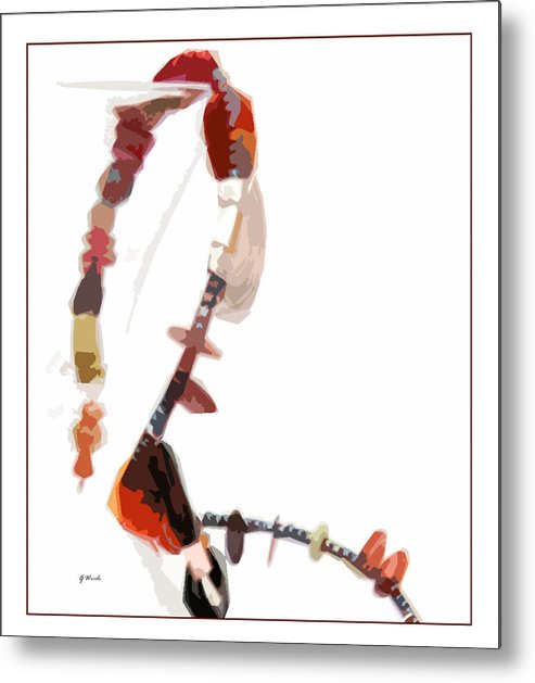Coral Beads Metal Print featuring the photograph Coral And Black Glass Beads by Gretchen Wrede
