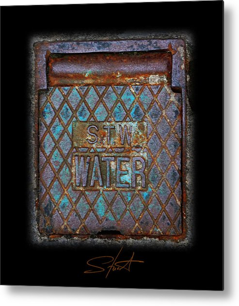 Water Metal Print featuring the photograph Blue Water by Charles Stuart
