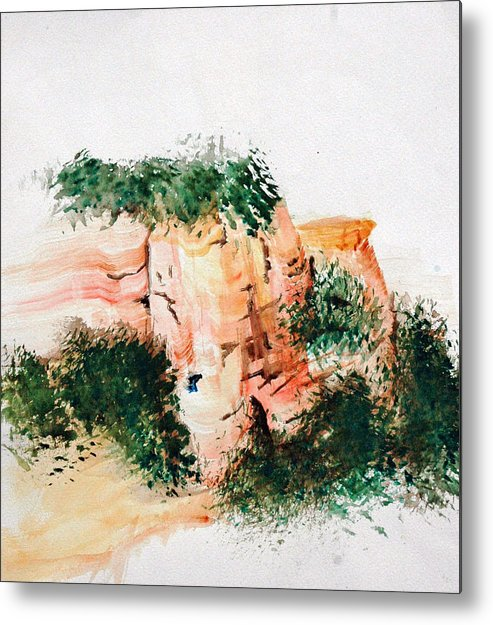 Landscape Metal Print featuring the painting Outside Sedona by David Keene