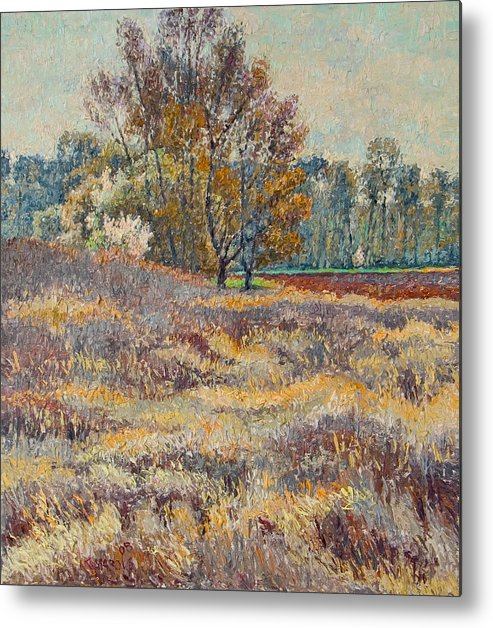 Landscape Metal Print featuring the painting Springtime by Vitali Komarov