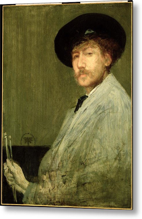 Dtr114682 Metal Print featuring the photograph Arrangement In Grey - Portrait Of The Painter by James Abbott McNeill Whistler