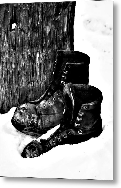Elm Metal Print featuring the photograph New Shoe Drop Off by Empty Wall