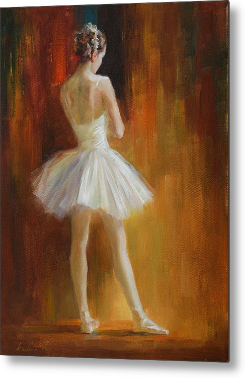 Metal Print featuring the painting Ballerina by Kelvin Lei