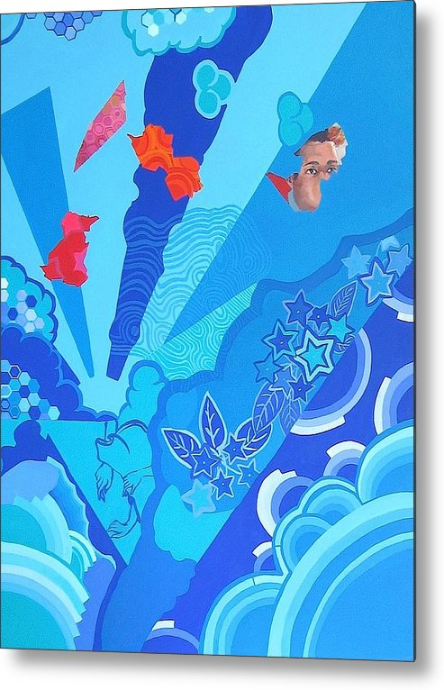 Blue Metal Print featuring the painting Blue That Surrounds Me by Takayuki Shimada