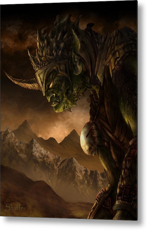Goblin Metal Print featuring the mixed media Bolg The Goblin King by Curtiss Shaffer