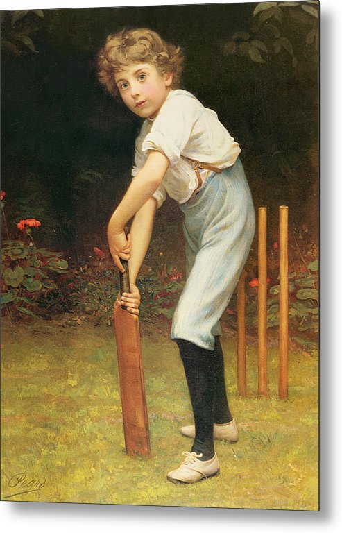 Captain Metal Print featuring the painting Captain Of The Eleven by Philip Hermogenes Calderon
