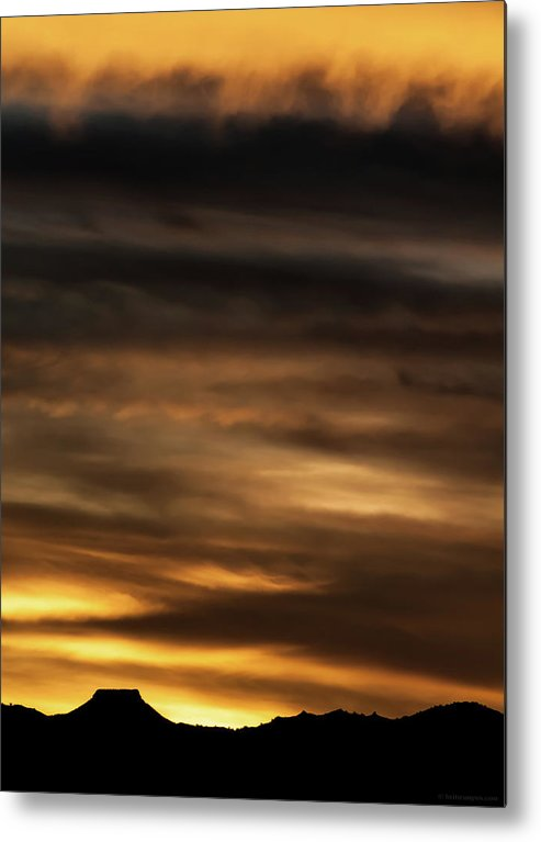 Sunset Metal Print featuring the photograph Cerro Pedernal by Britt Runyon