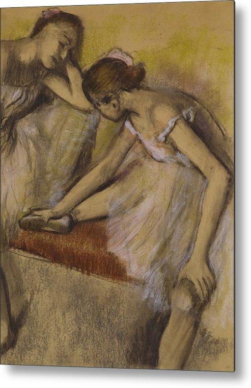 Dancers Metal Print featuring the painting Dancers In Repose by Edgar Degas