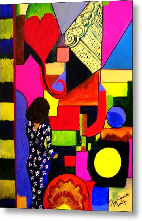 Modern Metal Print featuring the painting Eclectic Mix by Sher Green