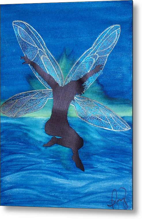 Fairy Metal Print featuring the painting Elation by Amy Lauren Gettys
