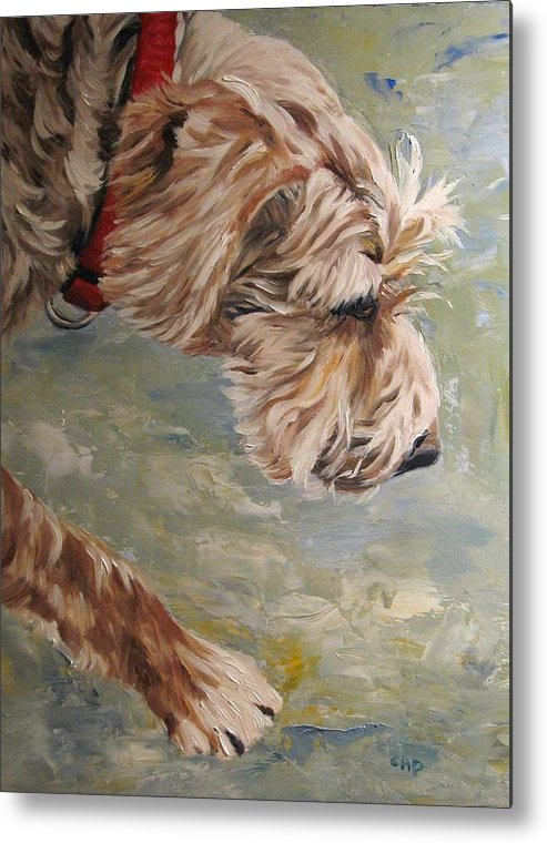 Dog Metal Print featuring the painting Follow Your Nose by Cheryl Pass