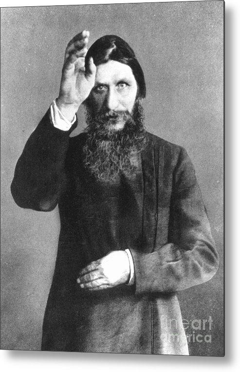 20th Century Metal Print featuring the photograph Grigori Efimovich Rasputin by Granger