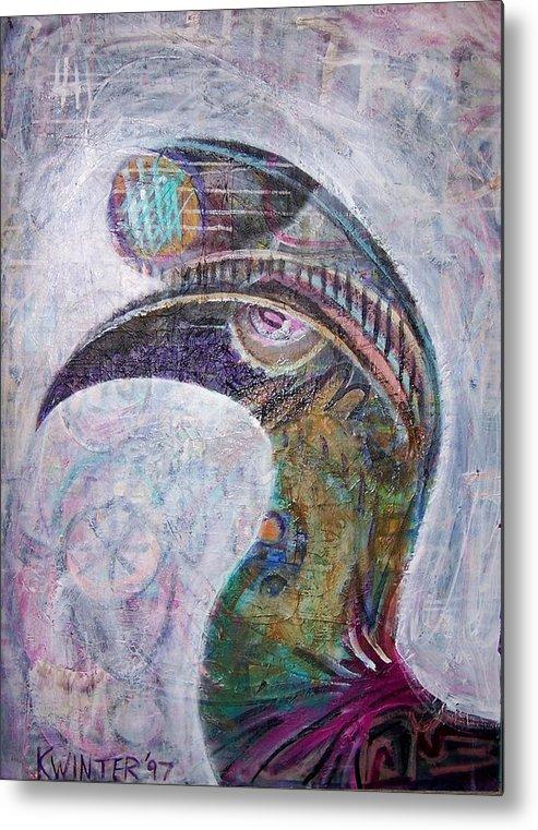 Bird Metal Print featuring the mixed media Hornbill by Dave Kwinter