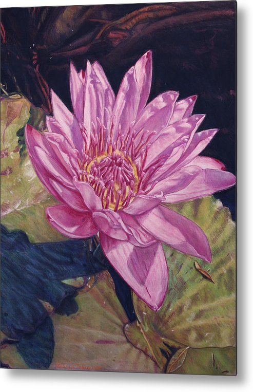 Floral Metal Print featuring the painting Lily And Her Shadow by Melissa Tobia