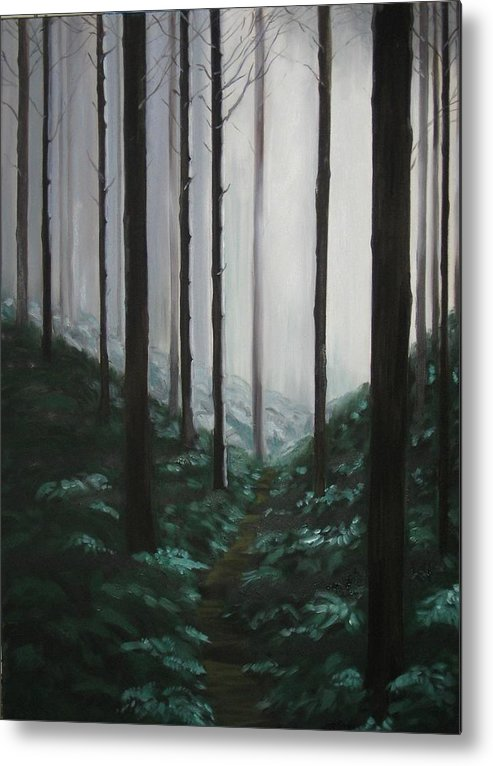 Forrest Metal Print featuring the painting Mists Of Past Times by Maren Jeskanen