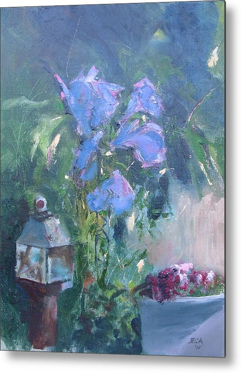 Flowers. Garden Metal Print featuring the painting Morning Glory by Bryan Alexander