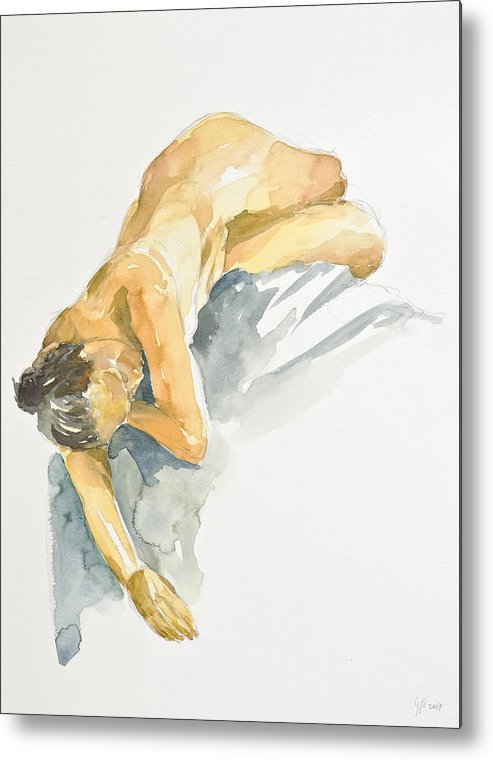 Nude Woman Metal Print featuring the painting Nude Series by Eugenia Picado