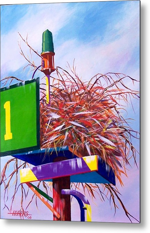 Nature Metal Print featuring the painting Osprey Nest by Hugh Harris