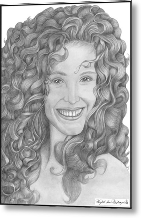 Portraits Metal Print featuring the drawing Pretty Woman by Winifred Ann Weishampel