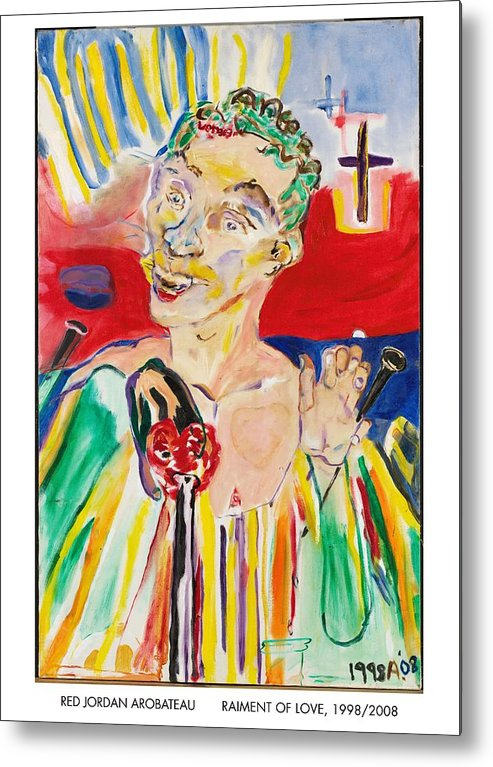 Sin Metal Print featuring the painting Raiment Of Love by Red Jordan Arobateau