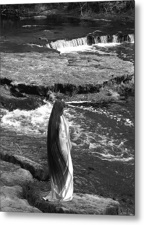 Woman Metal Print featuring the photograph Return To The Falls by Debbie May