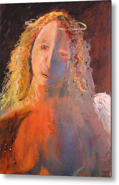 Angels Metal Print featuring the painting Silent by J Bauer