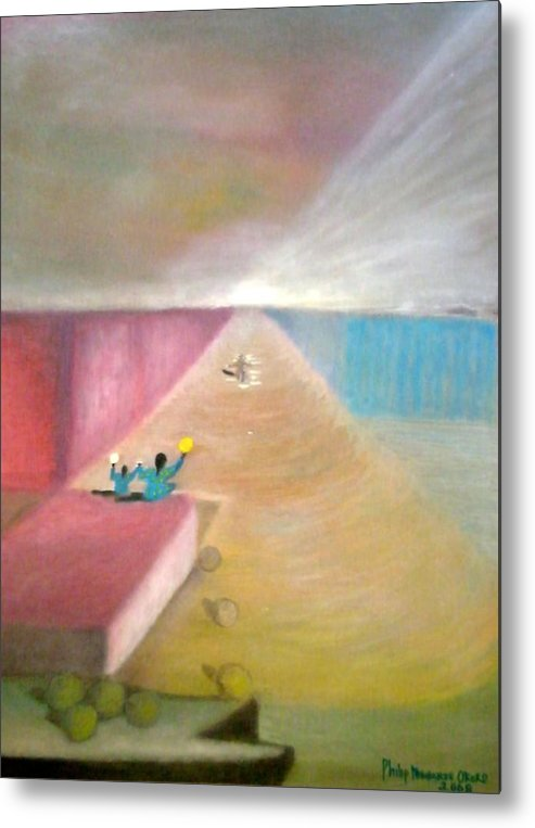 Art Metal Print featuring the painting The Great Return by Philip Okoro