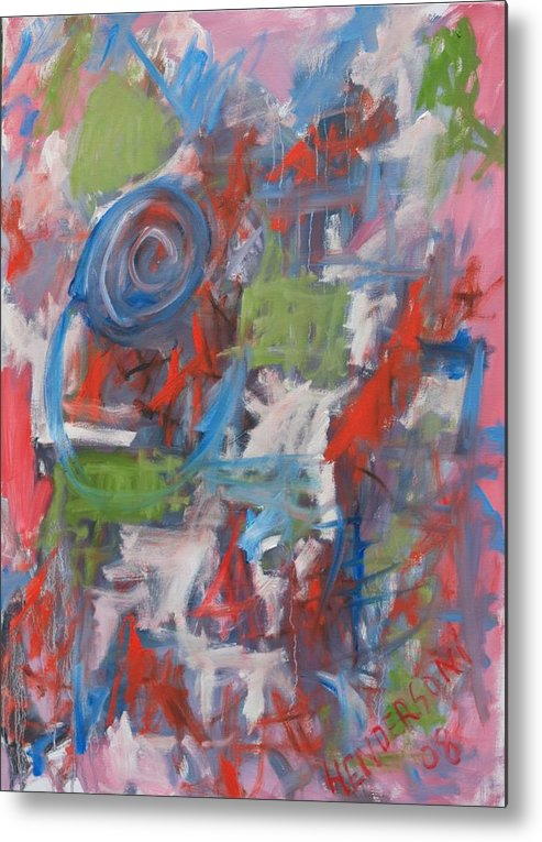 Abstract Metal Print featuring the painting Venice Abstract I by Michael Henderson