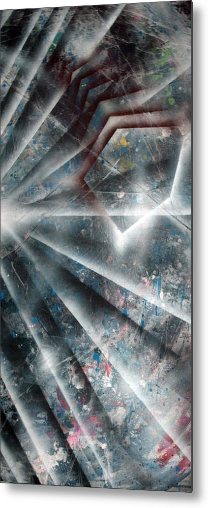 Paint Metal Print featuring the painting Emergence by Leigh Odom