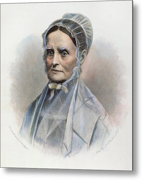 19th Century Metal Print featuring the photograph Lucretia Coffin Mott by Granger