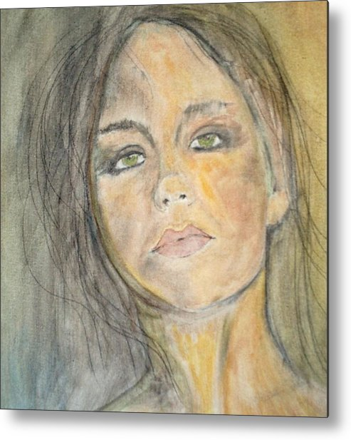 Portrait Metal Print featuring the painting Olivia by J Bauer