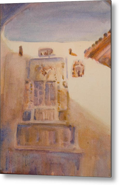 Adobe House Metal Print featuring the painting Christopher Colon House by Joyce Kanyuk