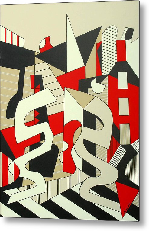 Abstract Expressionism Metal Print featuring the painting Tulcea by Marta Giraldo