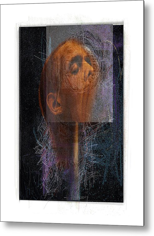 Portrait Metal Print featuring the digital art Popper by Nuff