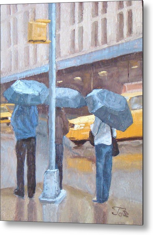 Impressionism Landscape Metal Print featuring the painting Another Rainy Day by Tate Hamilton
